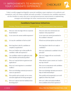 Rally Checklist: 11 Improvements to Humanize Your Candidate Experience