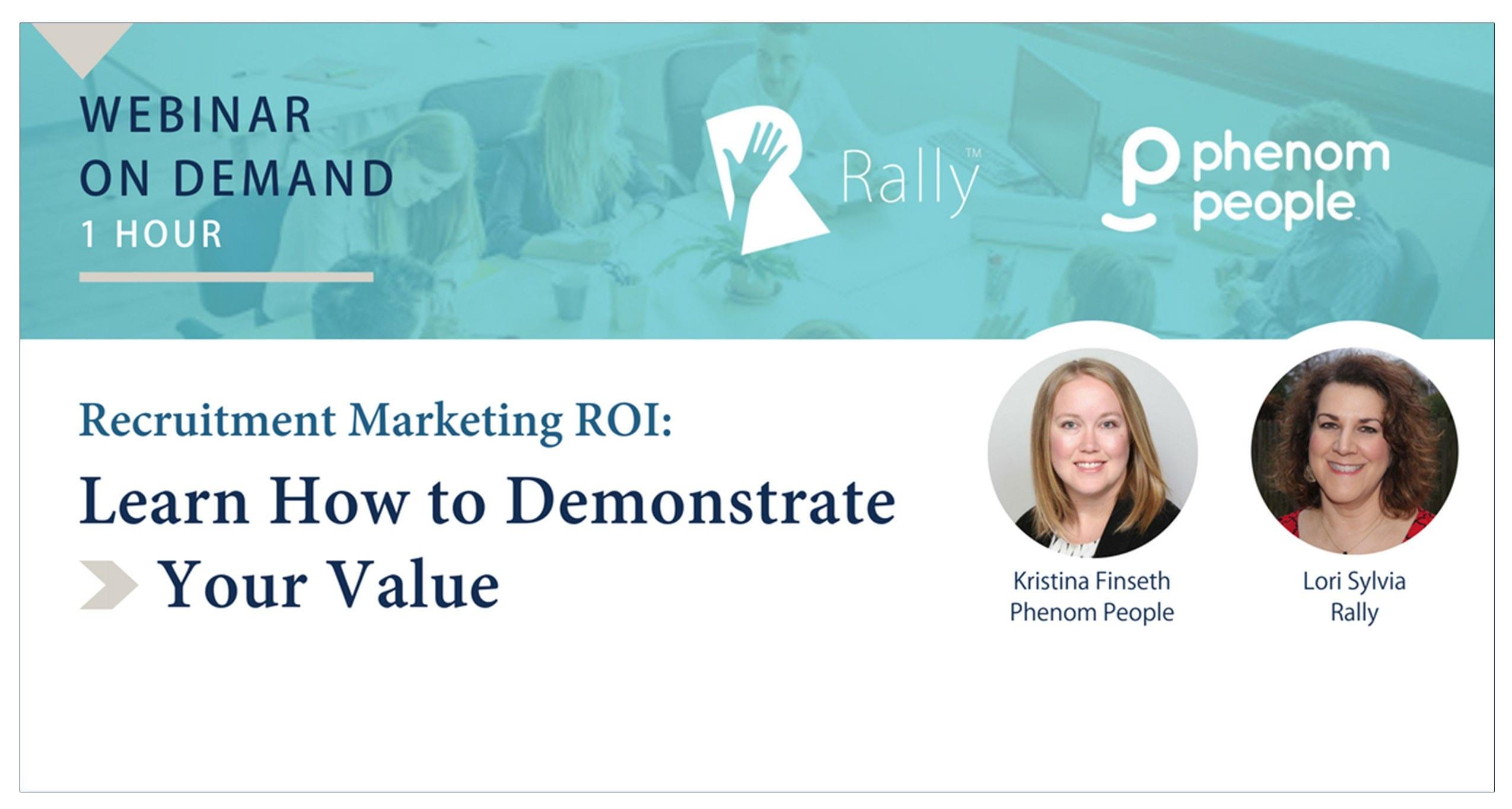 Webinar On Demand: Recruitment Marketing ROI | Rally