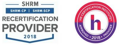 SHRM and HRCI logos