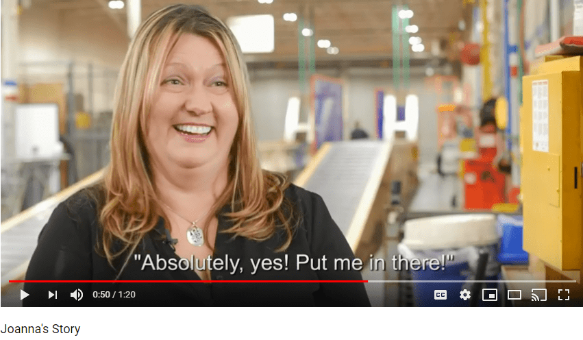 Video of a deaf woman explaining her employee experience at BAE Systems