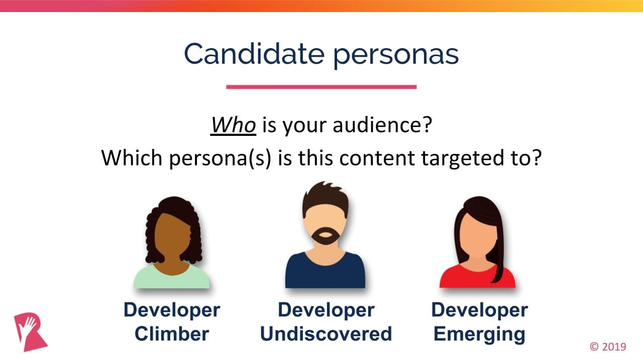Candidate persona example