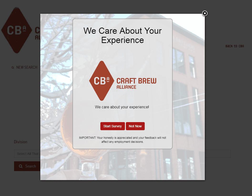 Survey for Craft Brew Alliance
