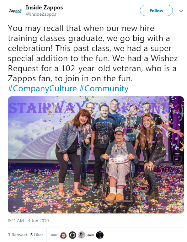 Zappos throwing a celebration with a 102-year-old veteran