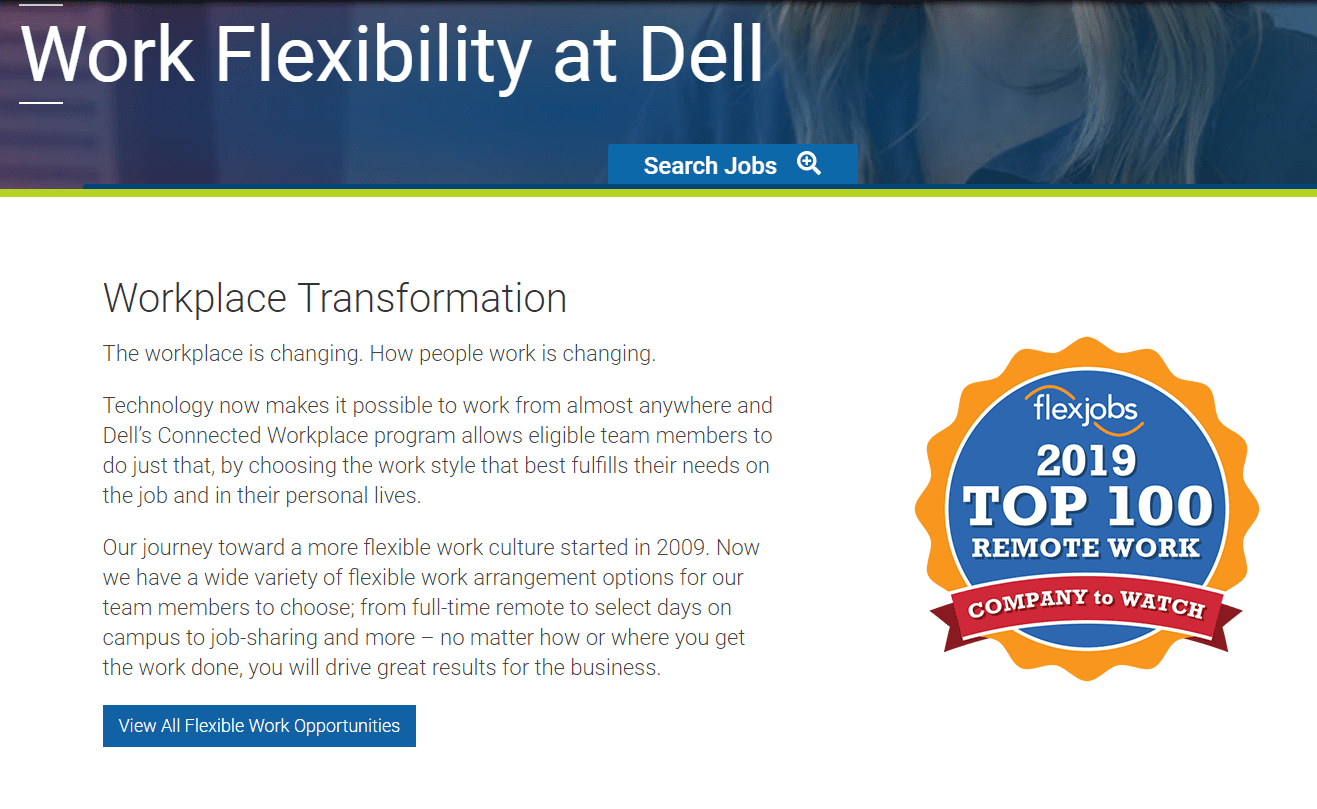 A Dell careers page