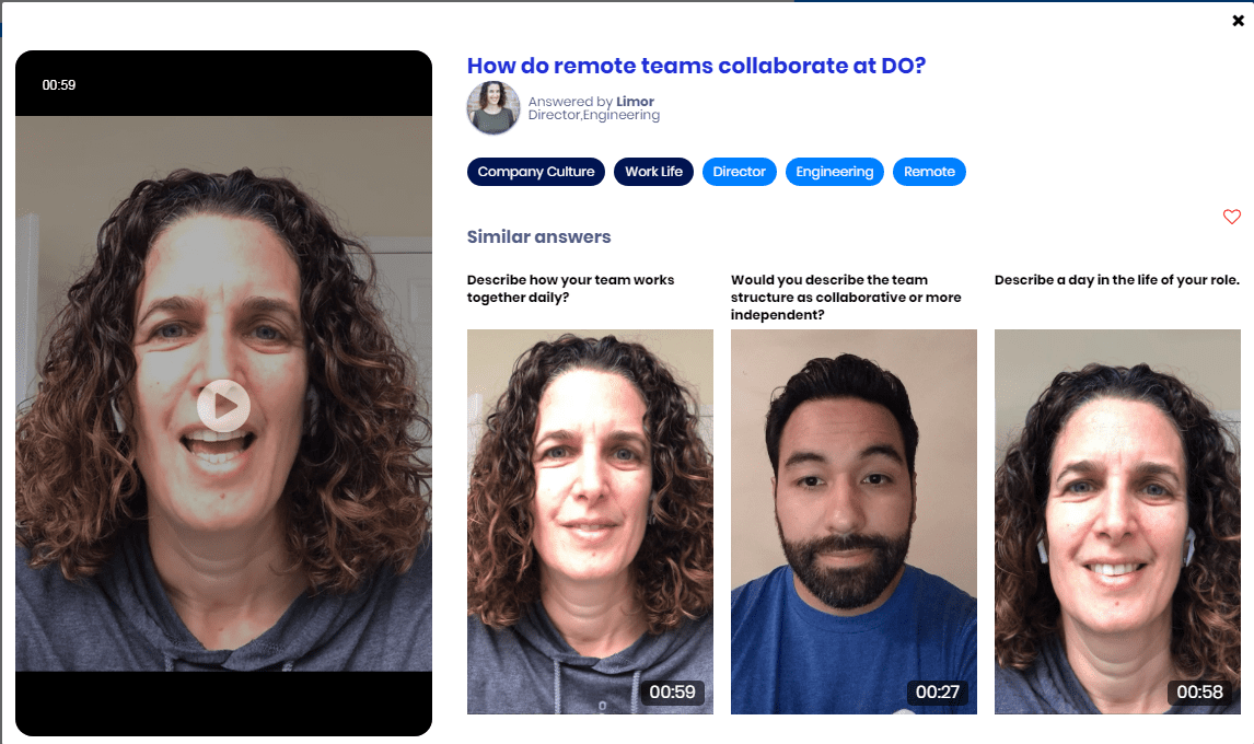 DigitalOcean employee videos answering candidate questions