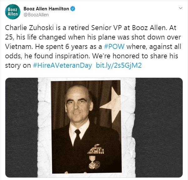 Booz Allen Hamilton veteran employee stories