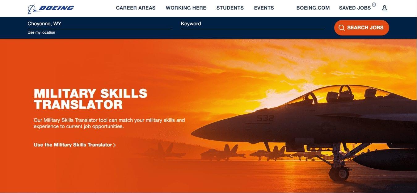 Boeing veteran hiring
