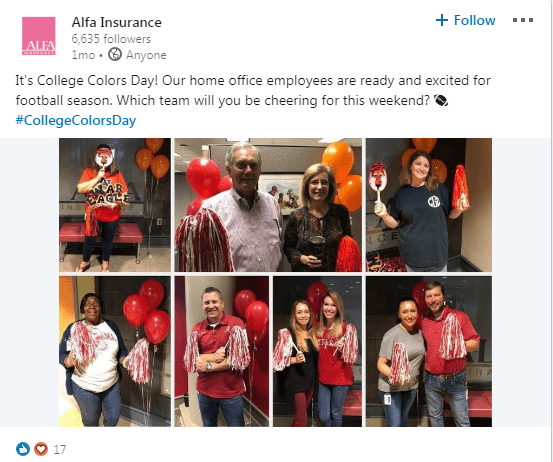 ALFA Insurance College Colors Day