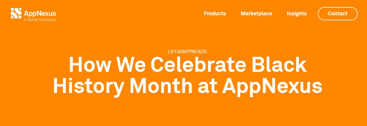 AppNexus Black History Month
