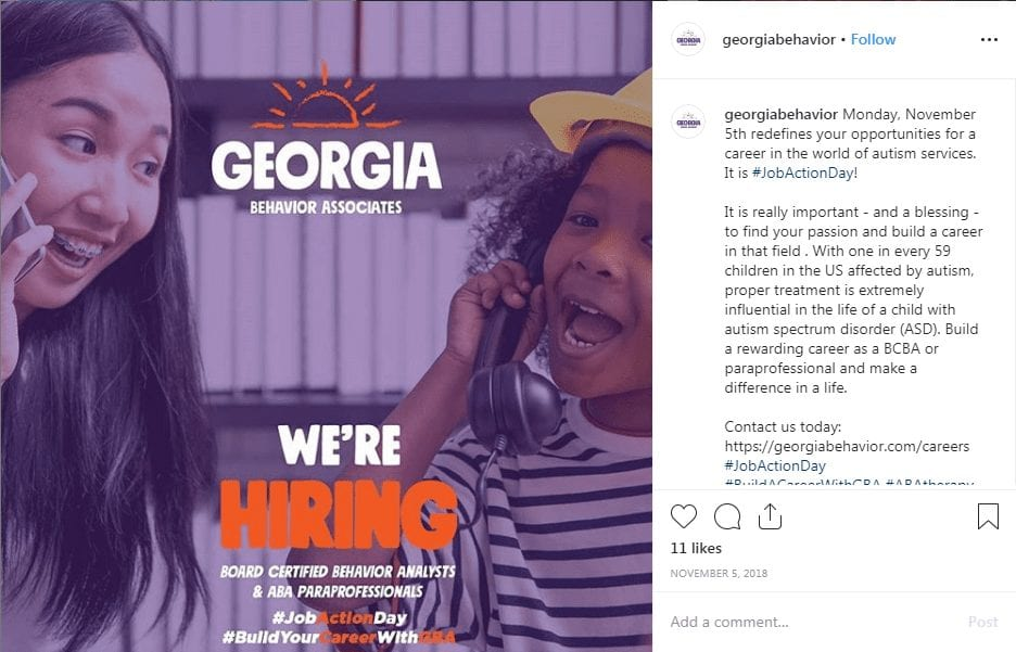 Georgia Behavior Job Action Day