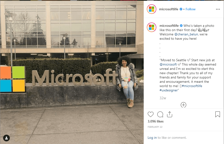 Microsoft Life social media recruitment strategy