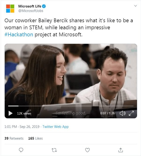 Microsoft Life social media recruiting strategy