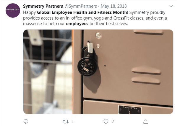 Symmetry Global Employee Health and Fitness Month
