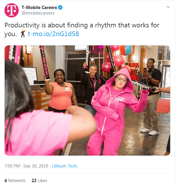 T-Mobile social media recruiting strategy
