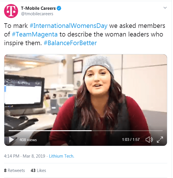T-Mobile International Womens Day