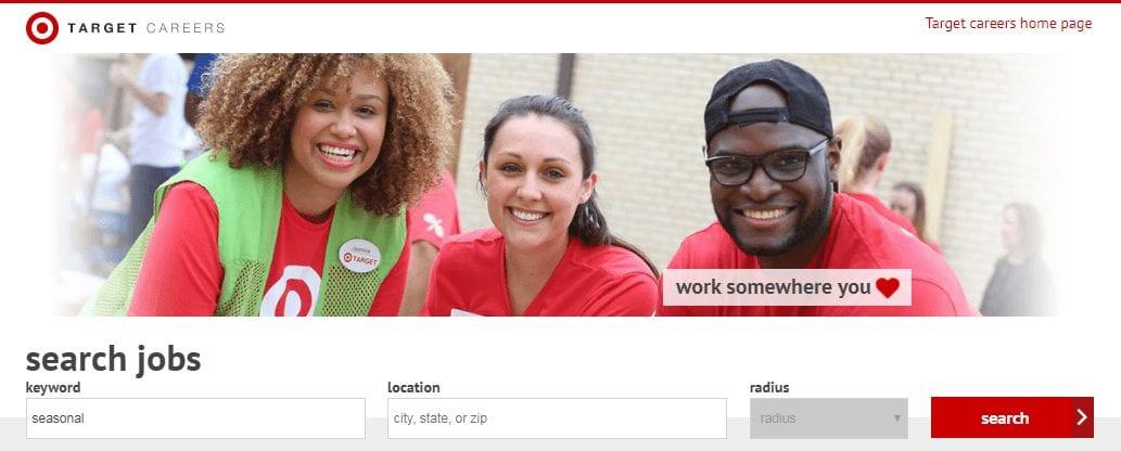 Target seasonal careers site