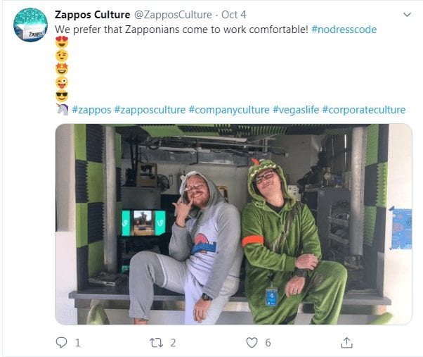 Zappos culture content