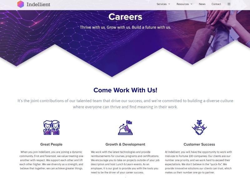 Indellient careers site