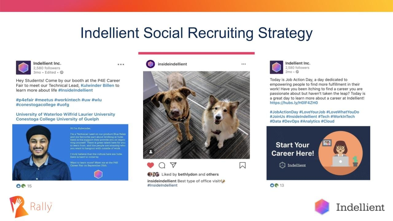 Indellient social recruiting strategy