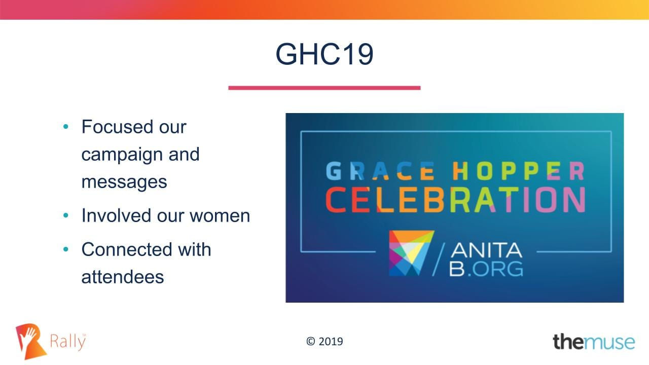 VMWare Carbon Black was a sponsor at the Grace Hopper Campaign where they focused on their Recruitment Marketing campaign and messaging towards women.