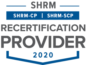 SHRM approved provider seal 2020
