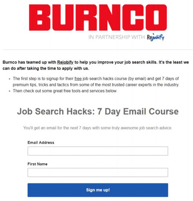 Brunco and Rejobify help improve job search skills