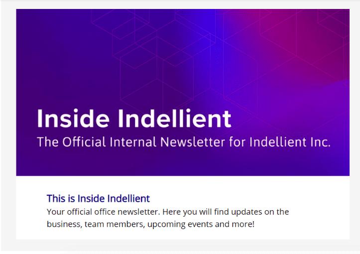 Inside Indellient Newsletter