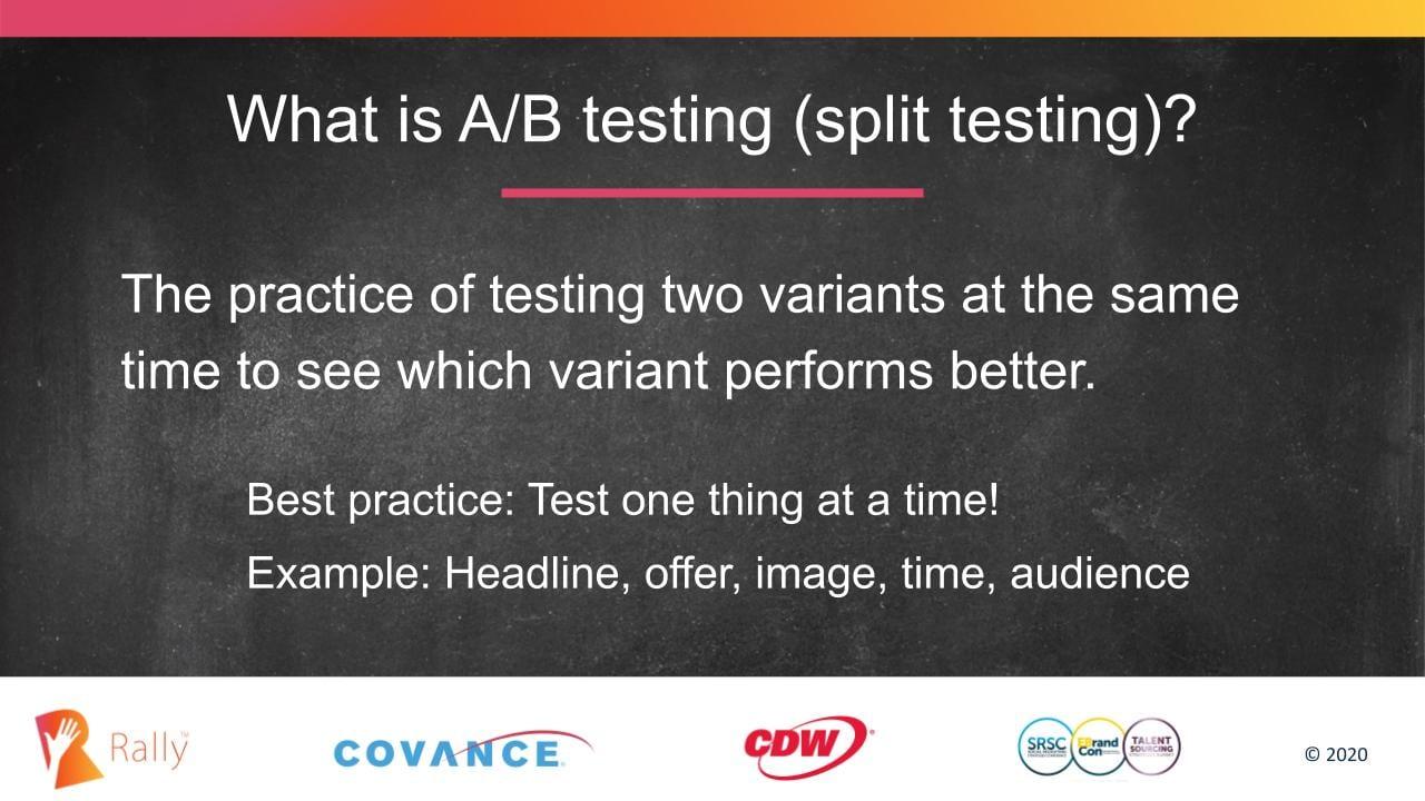 Definition of A/B split testing in digital marketing