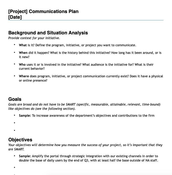 Strategic Recruitment Marketing communications plan