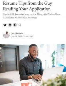 Nestle job application tips