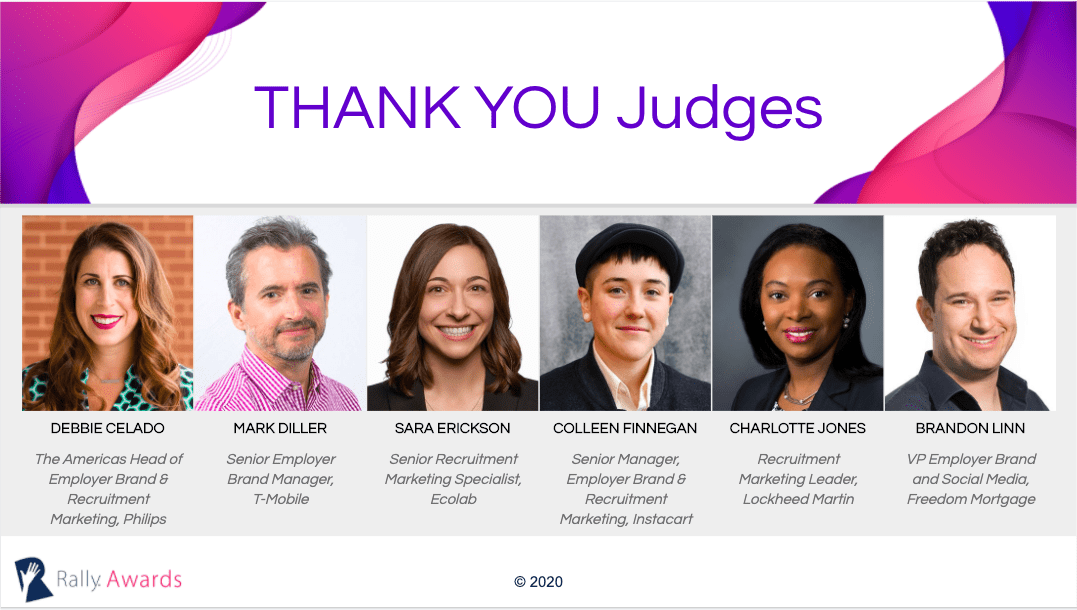 Rally Awards 2020 Judges