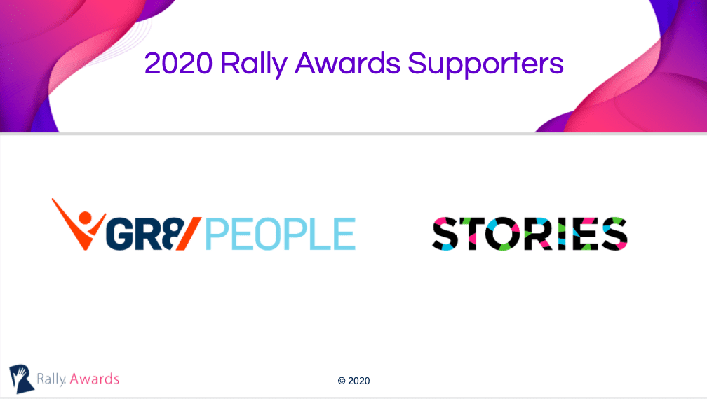 2020 Rally Awards supporters