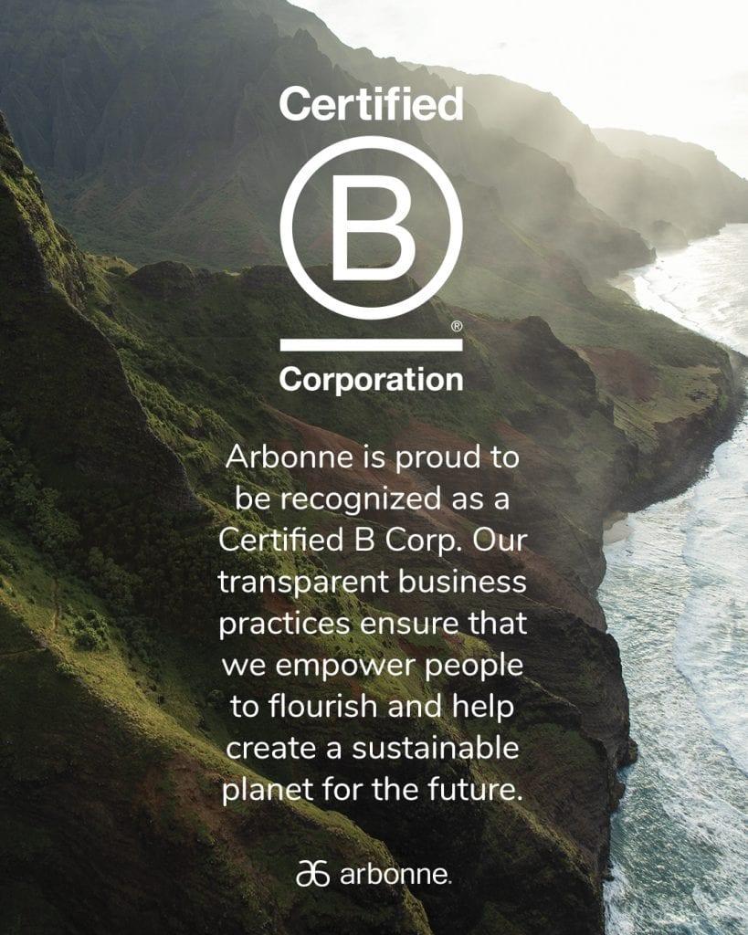 Arbonne's B-Corp status