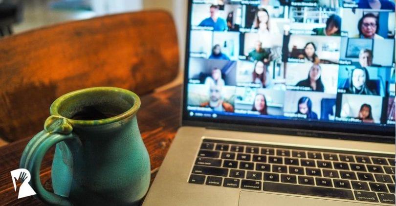 Employer branding team meeting virtually