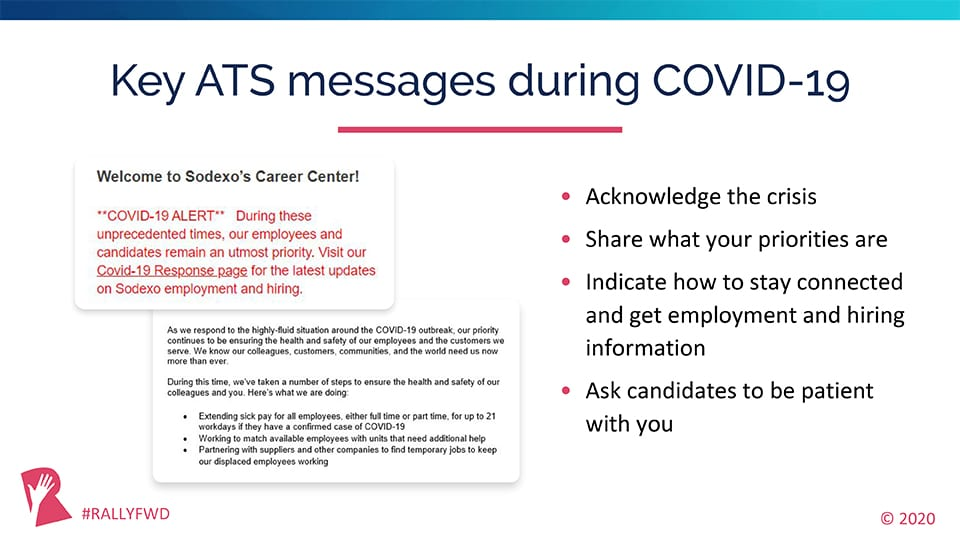ATS Messages During COVID-19