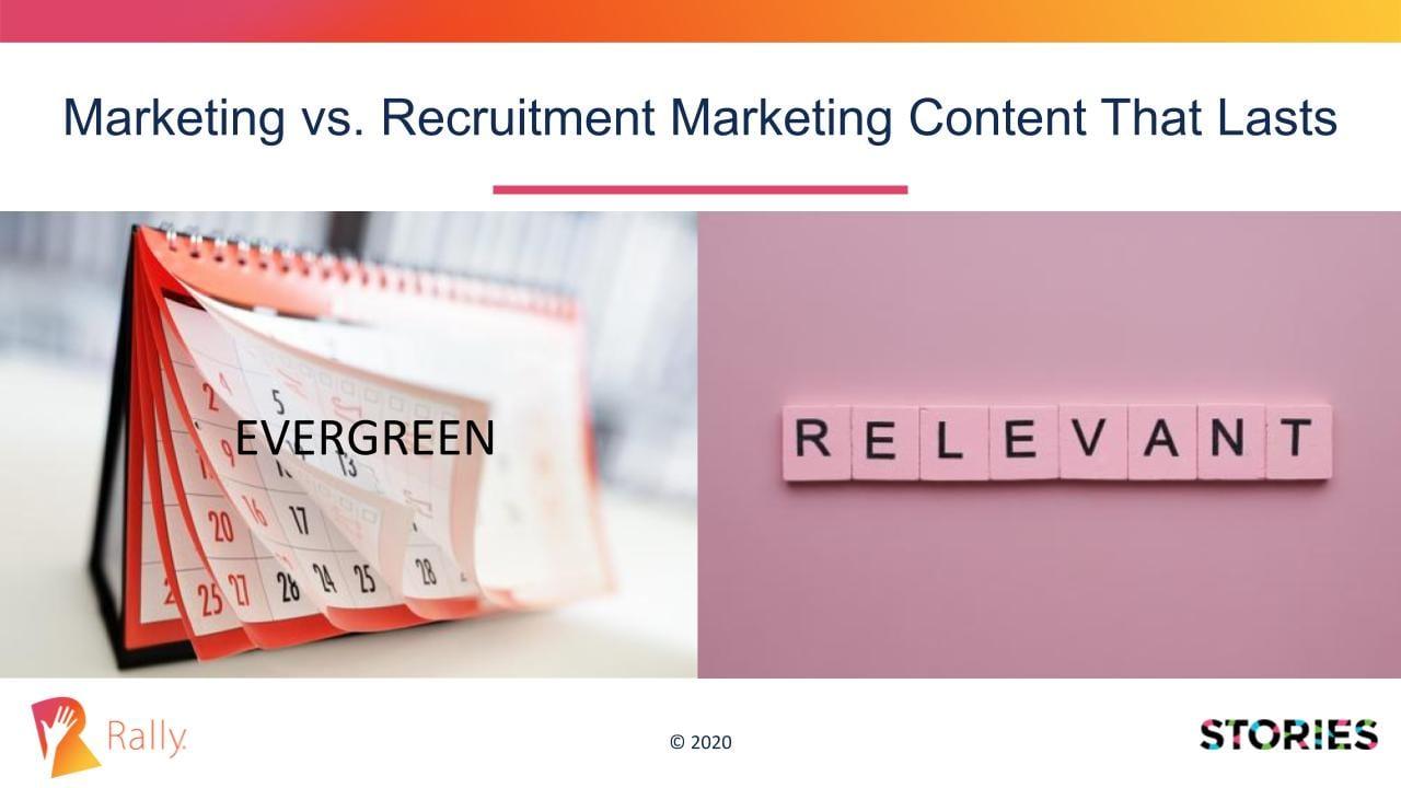 Evergreen calendar content versus Relevant content