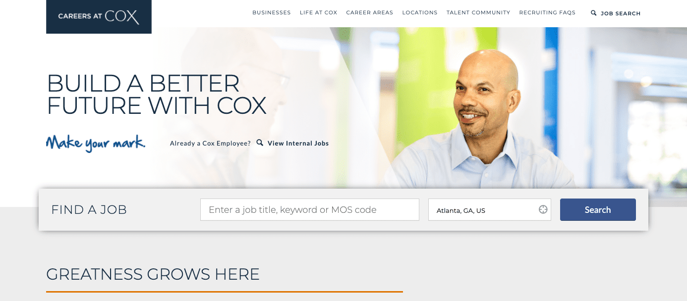 Cox Careers Page