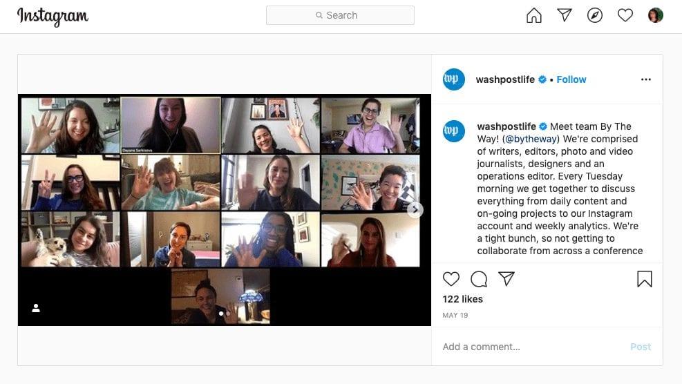 Washington Post Social Careers Instagram