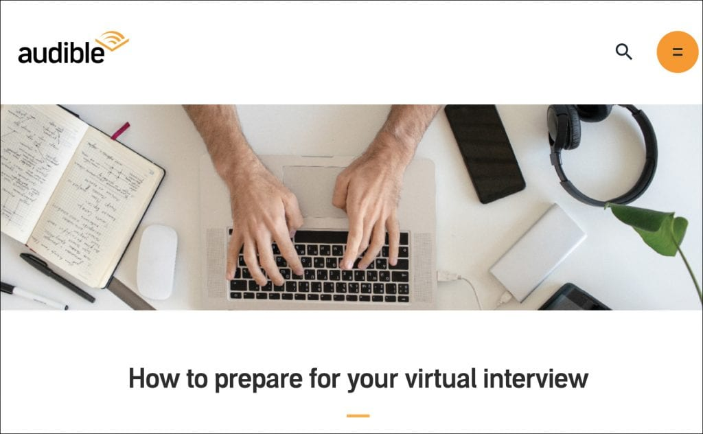 Audible's Virtual Interview Guide