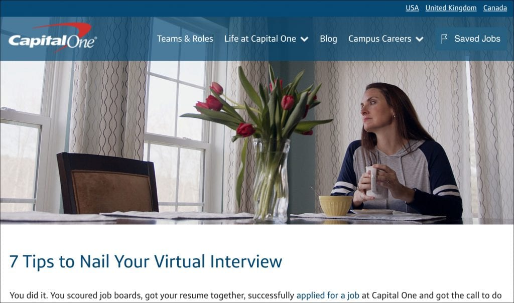 Capital One virtual interview guide