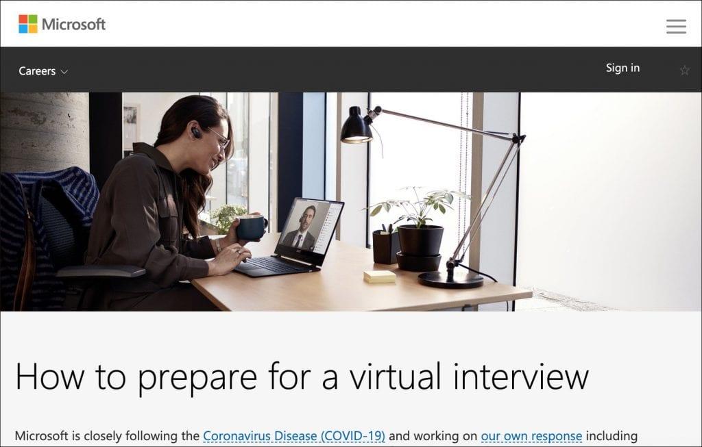 Microsoft's Virtual Interview Guide