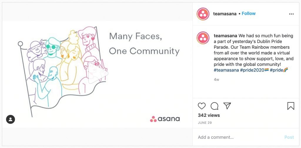 Asana Instagram Post