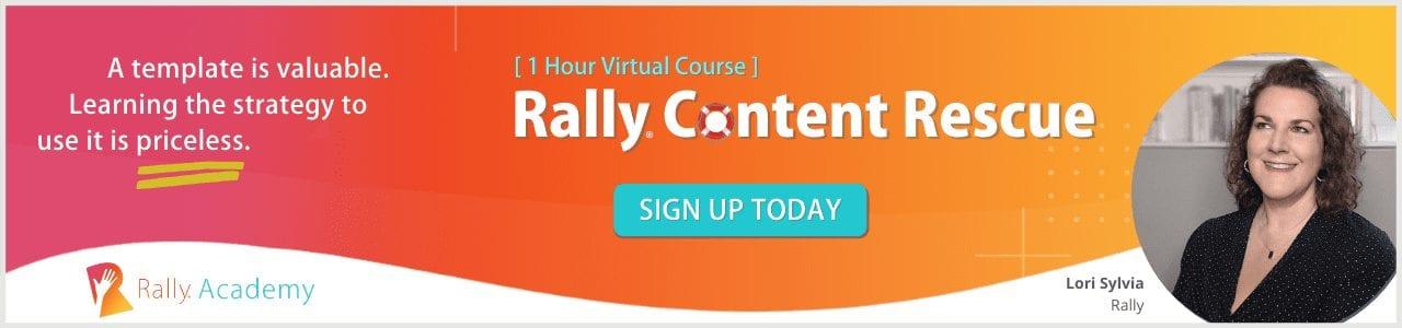 Virtual Course: Rally Content Rescue