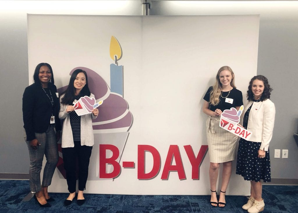 Employee celebration event at Delta Airlines