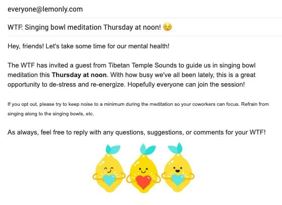 Example email Lemonly