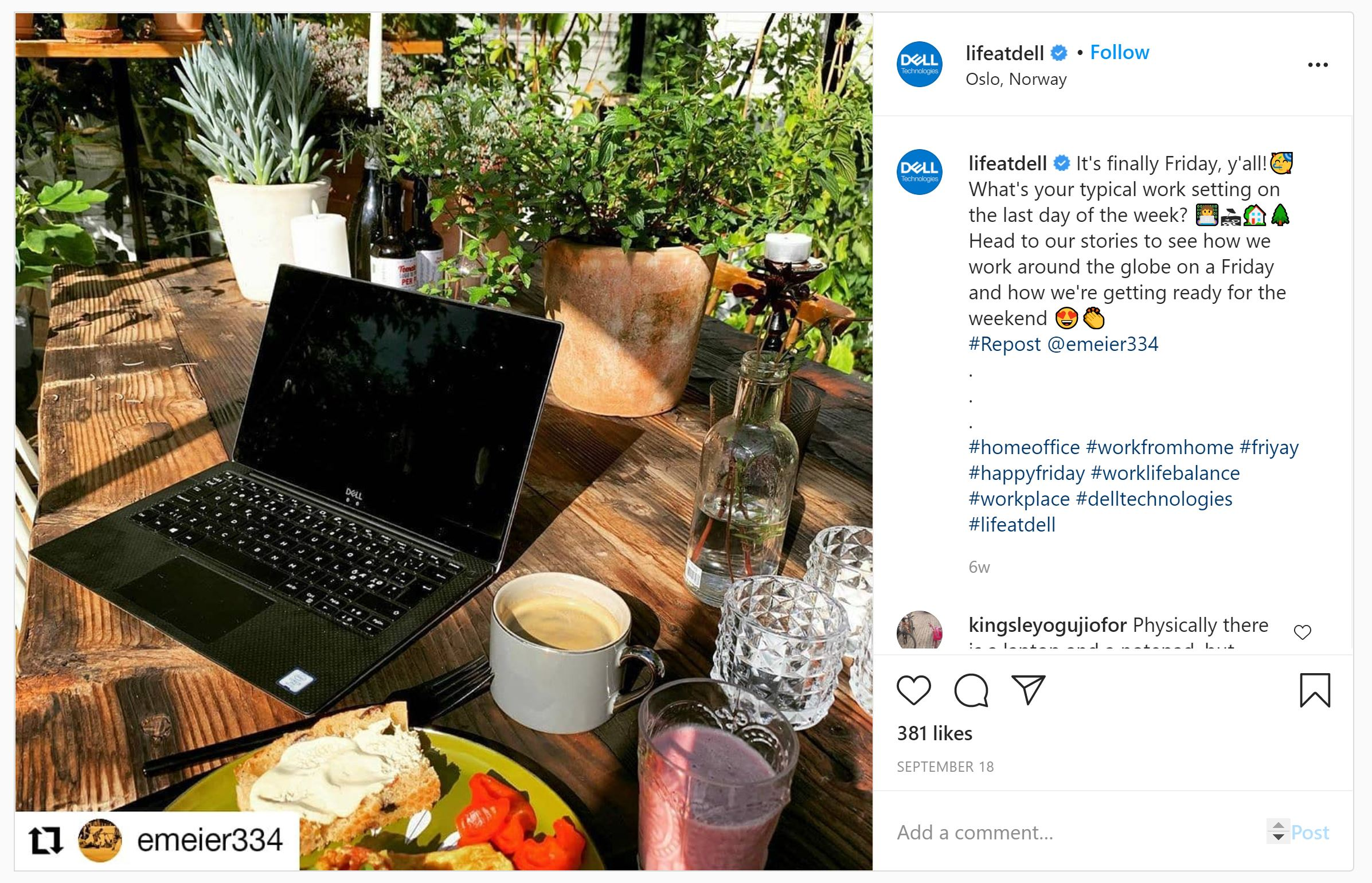 Life at Dell on Instagram