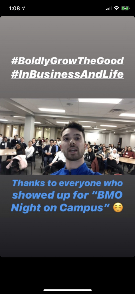 Example of social media content from campus influencer program