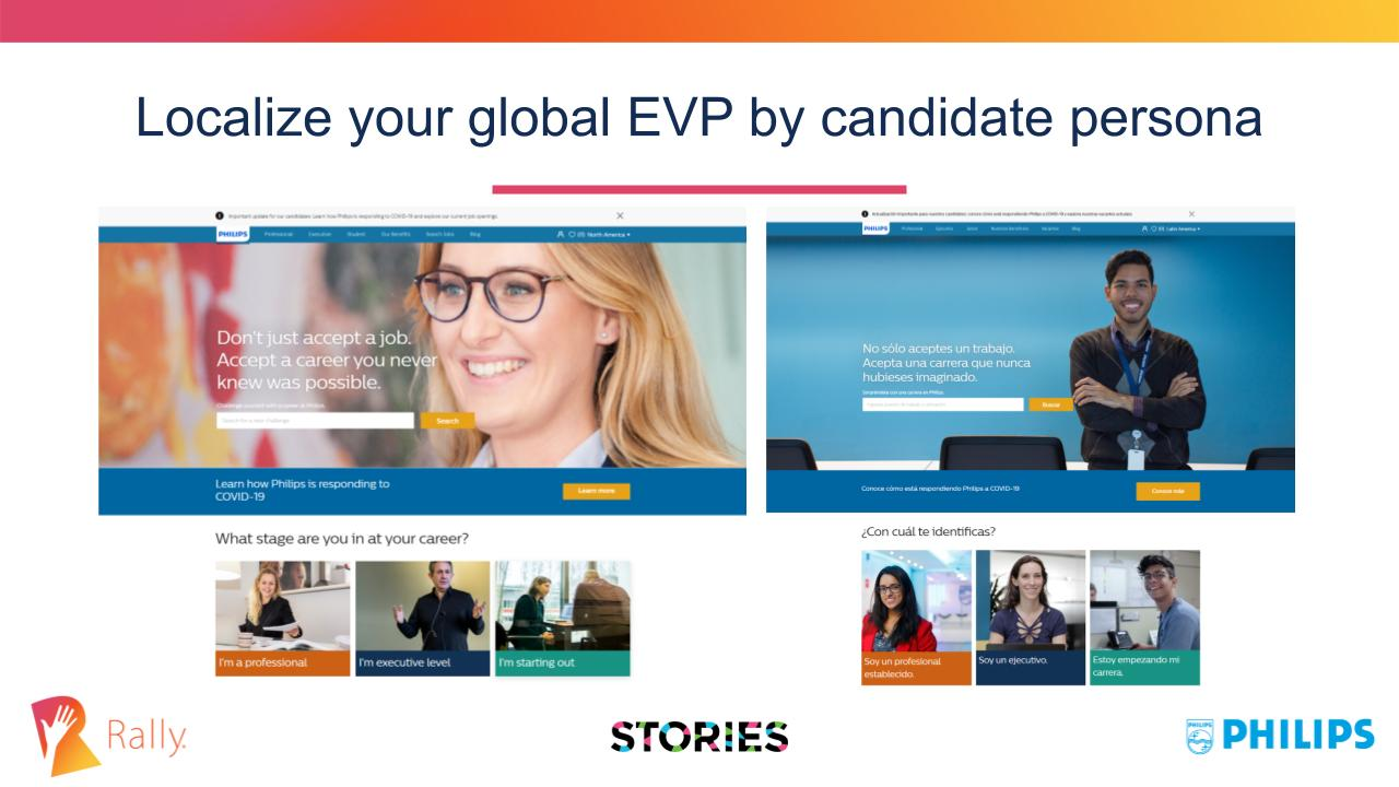 Localize your global EVP by candidate personas