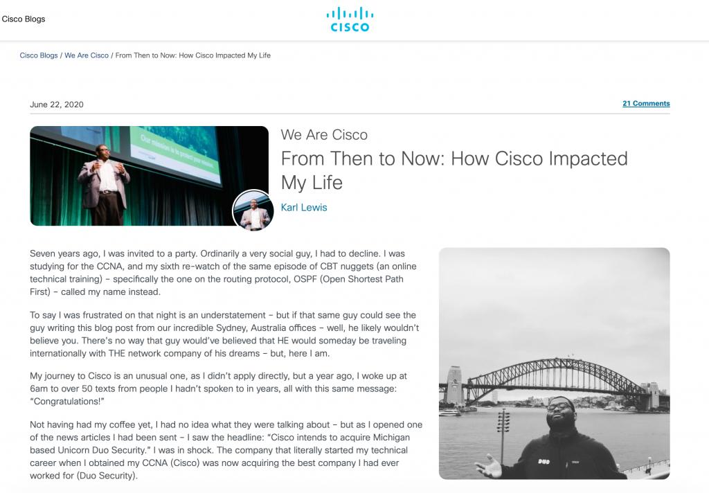 Cisco's Careers Blog