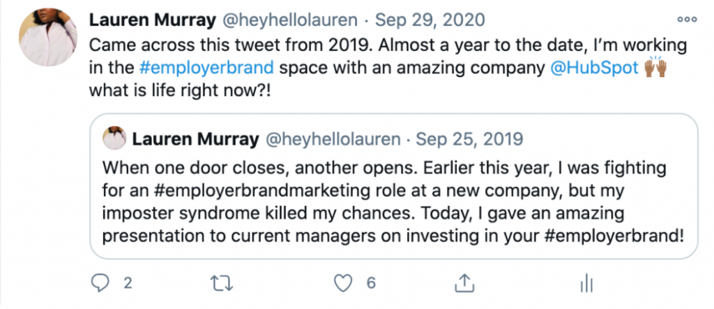 Lauren's Tweet